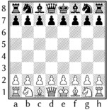 Typesetting chessboard by special chess font