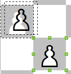 Combining and positioning chess figures