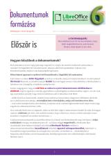 Kenczler Mihály – Dokumentumok formázása LibreOffice-szal